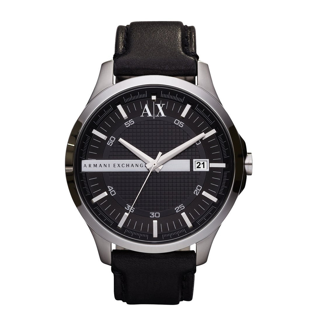 Armani Exchange Mens Hampton Black Watch AX2101 Watches Armani Exchange