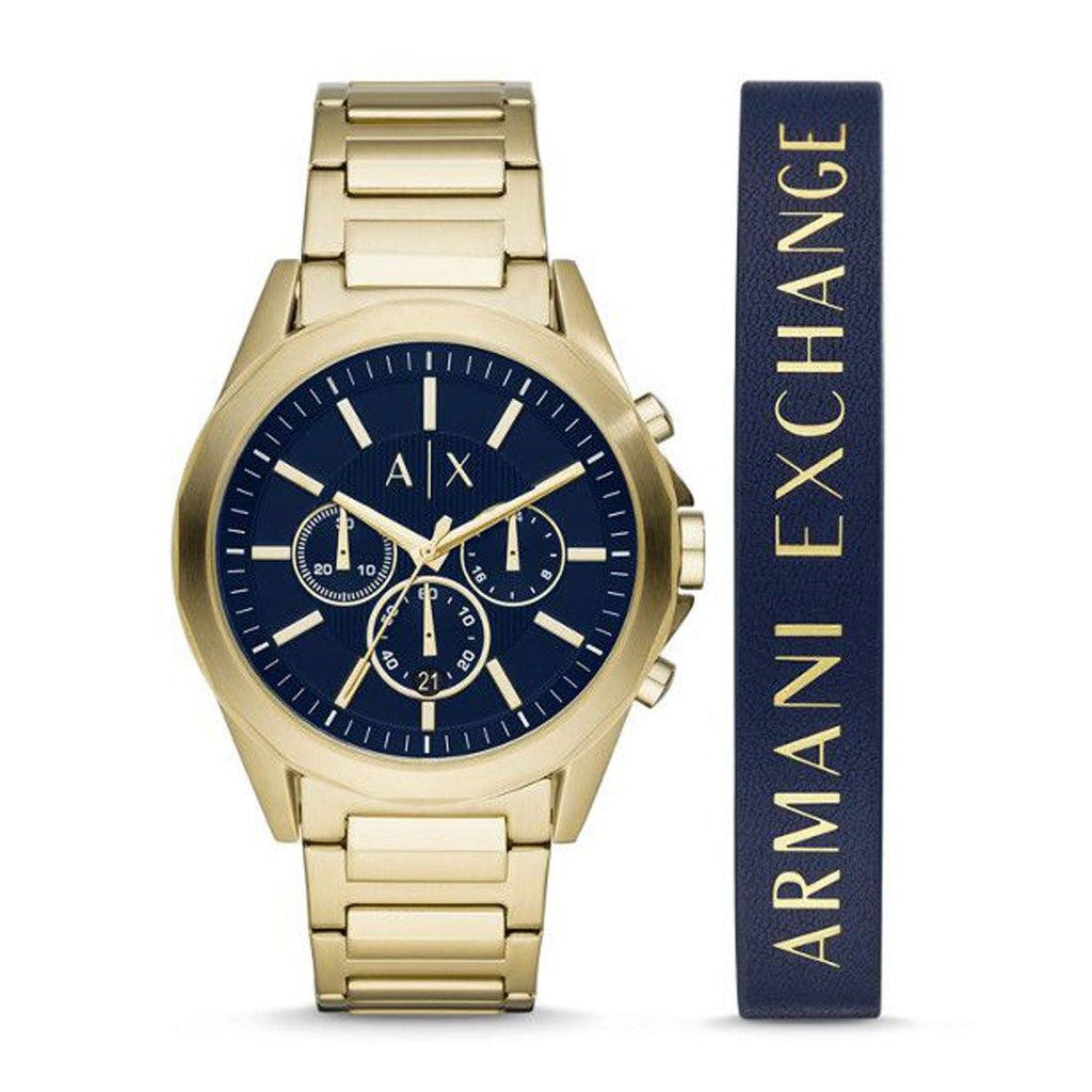 Armani Exchange Gold-Tone Chronograph Watch Watches Armani Exchange