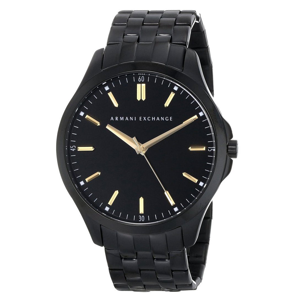 Armani Exchange Men's Black Face Black Band Watch AX2144 Watches Armani Exchange