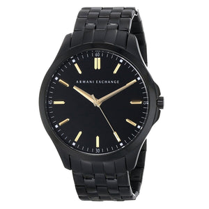 Armani Exchange Men's Black Face Black Band Watch AX2144