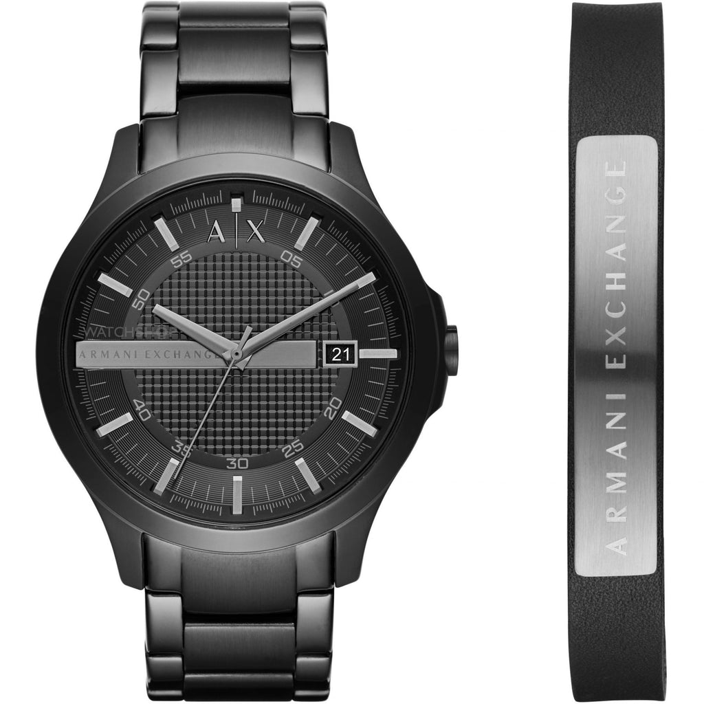 Armani Exchange Hampton Watch and Bracelet Gift Set AX7101