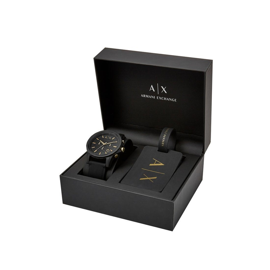 Armani Exchange Watch & Luggage Tag Gift Set AX7105