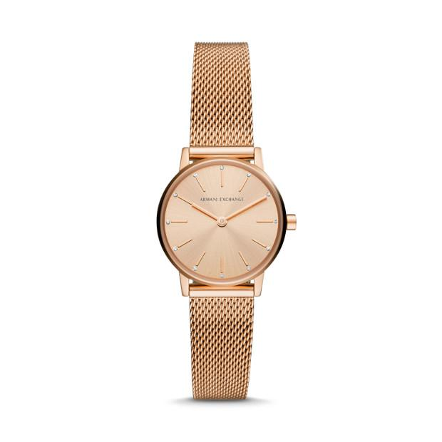 Armani Exchange Lola Rose Gold Women's Watch AX5566 Watches Armani Exchange