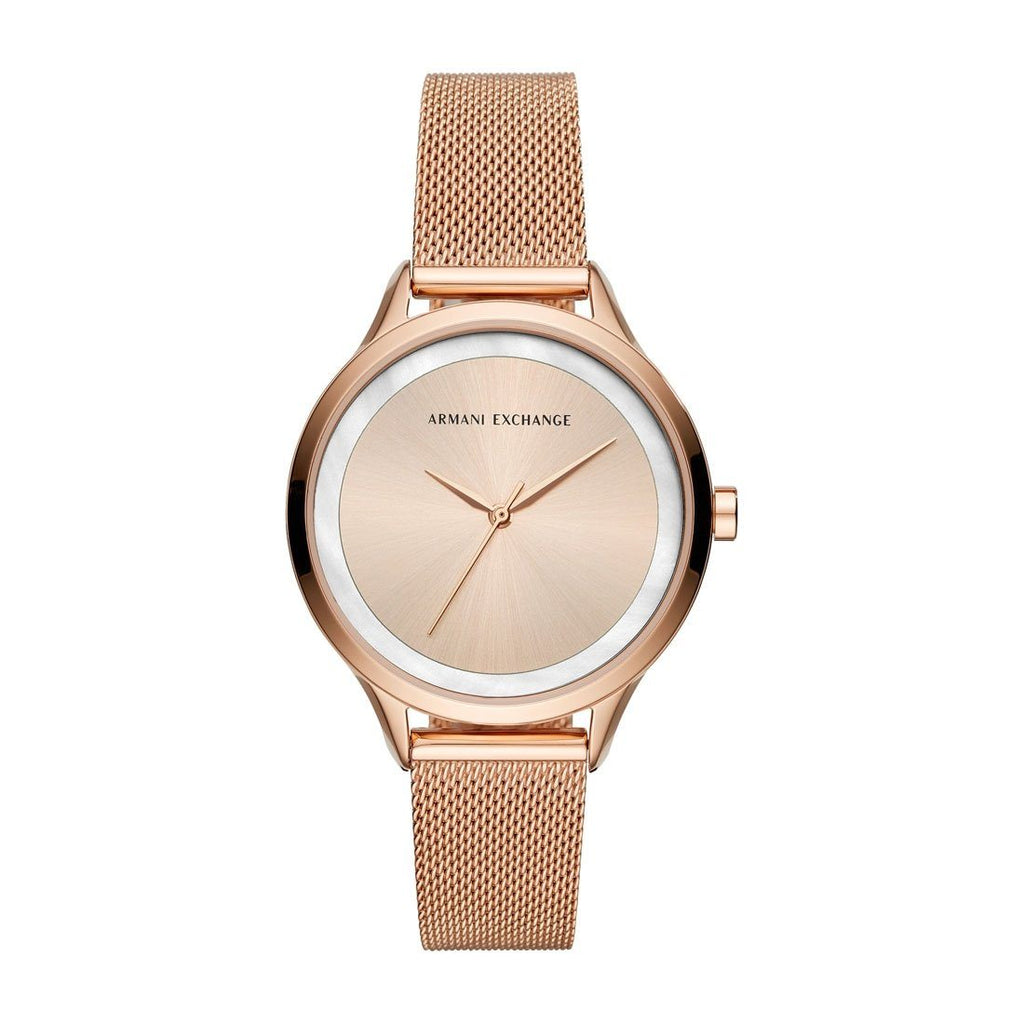 Armani Exchange Ladies Harper Rose Gold Model AX5602 Watches Armani Exchange