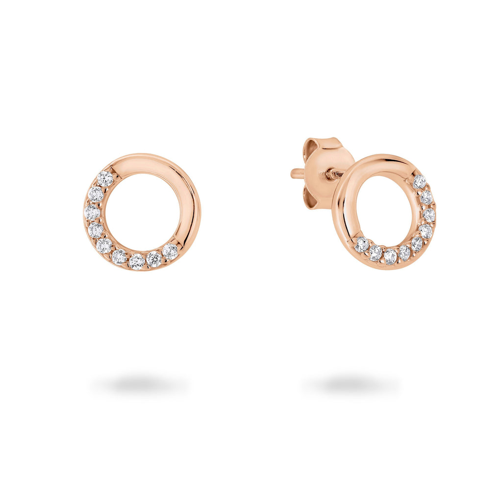GEO ROSE GOLD EARRING Bevilles Jewellers
