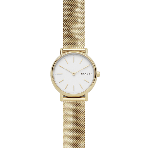 Skagen Signatur Slim Gold-Tone Steel-Mesh Watch SKW2693