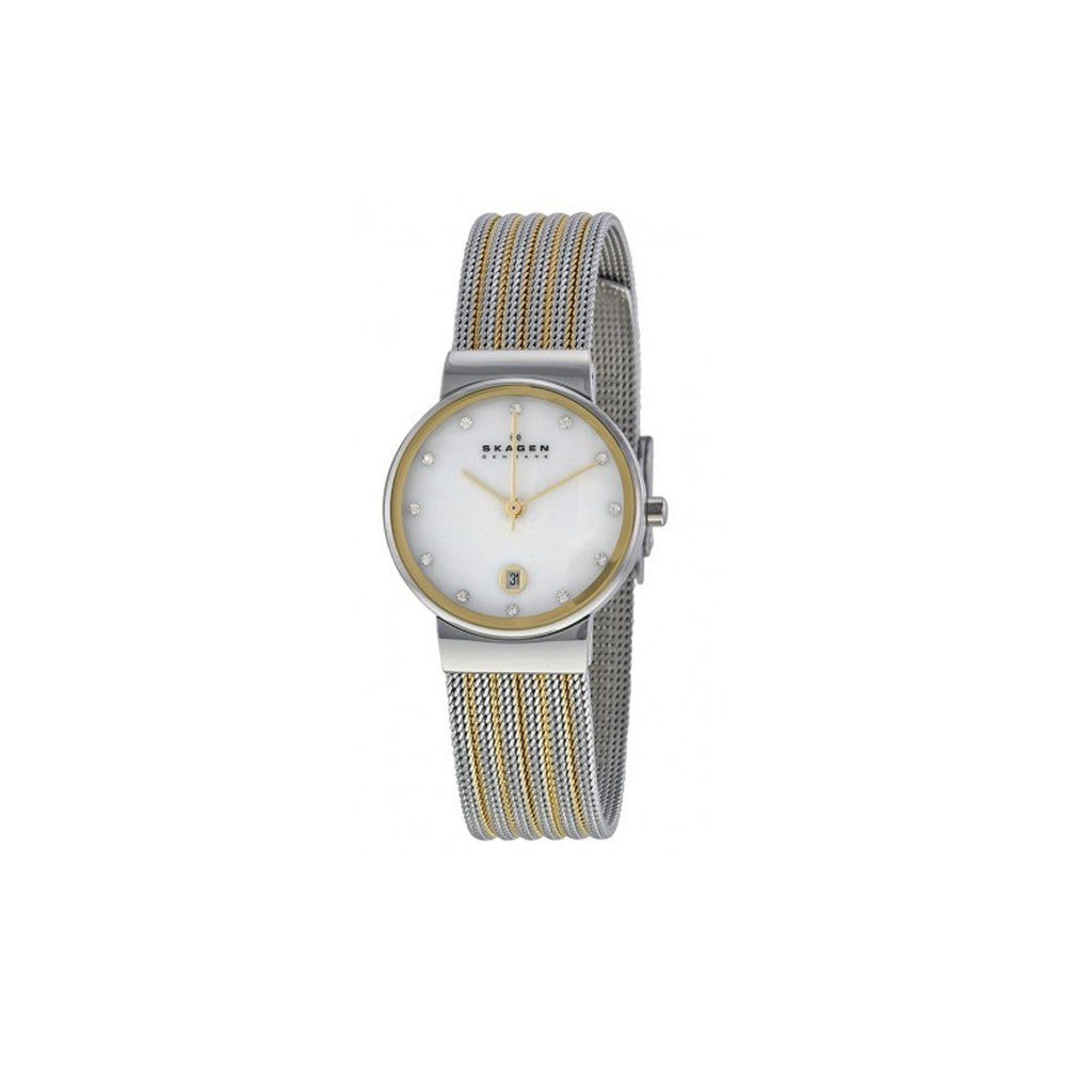 Skagen Ancher Ladies 2 Tone Watch 355SSGS