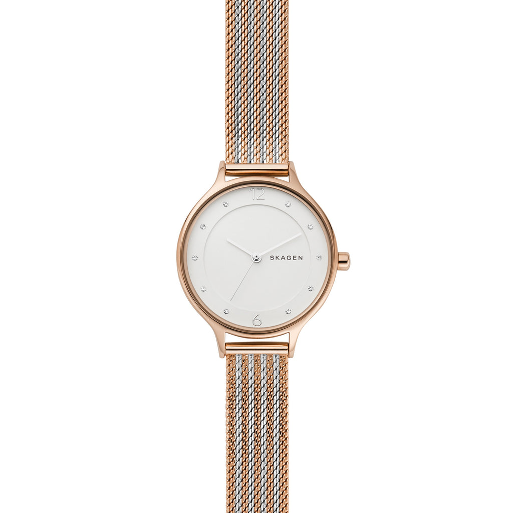 Skagen Anita Two-Tone Steel Ripple-Mesh Watch SKW2749