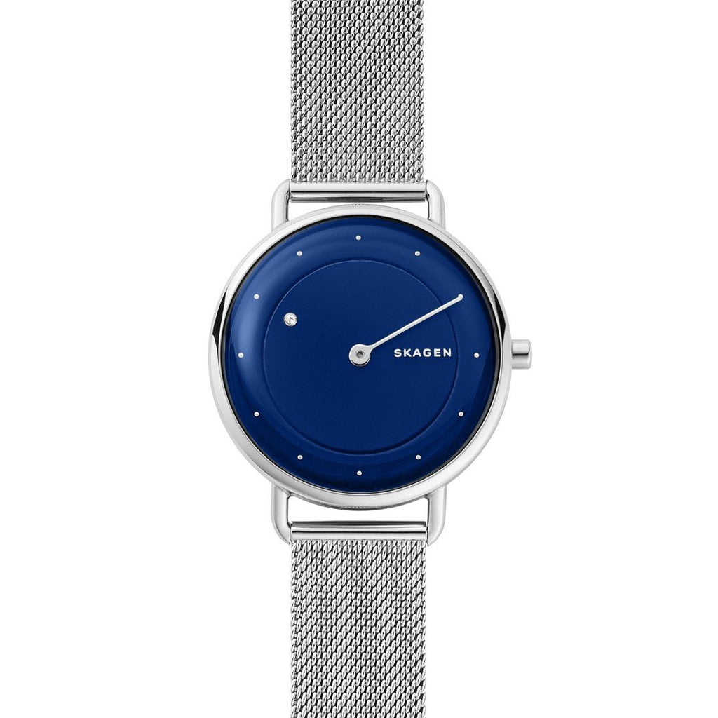 Skagen Horisont Special-Edition Genuine Diamond Steel-Mesh Watch SKW2738