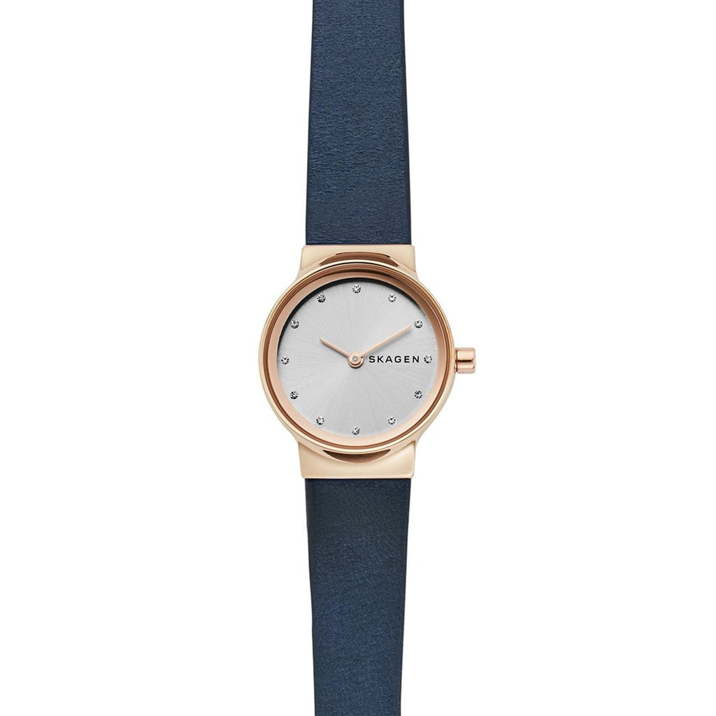 Skagen Freja Blue Leather Watch SKW2744
