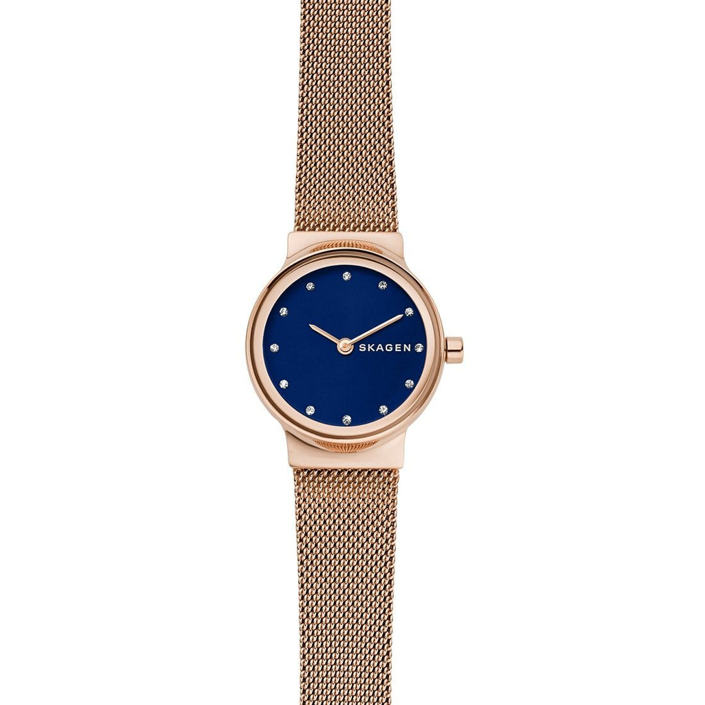 Skagen Freja Rose-Tone Steel-Mesh Watch SKW2740