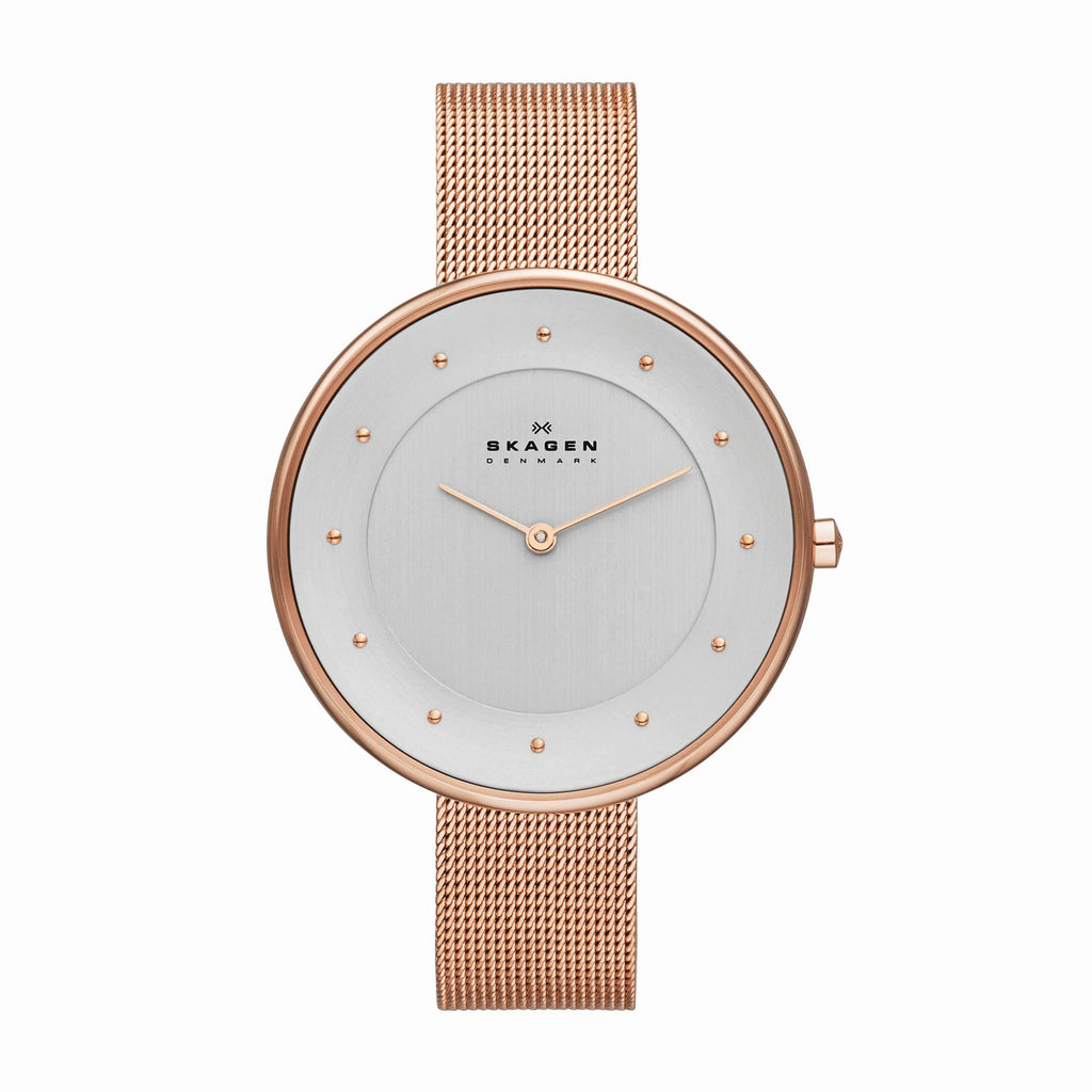 Skagen Gitte Rose Gold Ladies Watch SKW2142 Watches Skagen