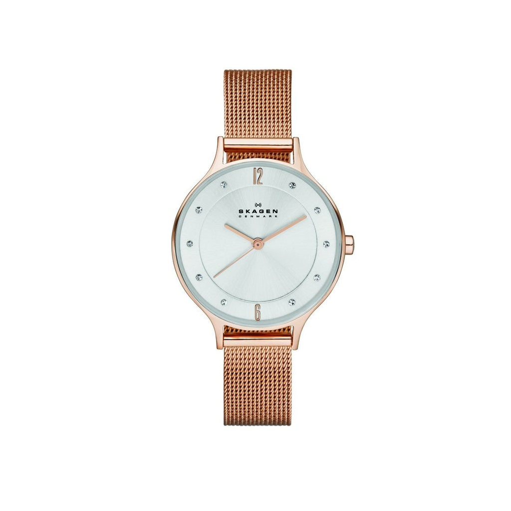 Skagen Anita Rose Gold Mesh Ladies Watch SKW2151 Watches Skagen
