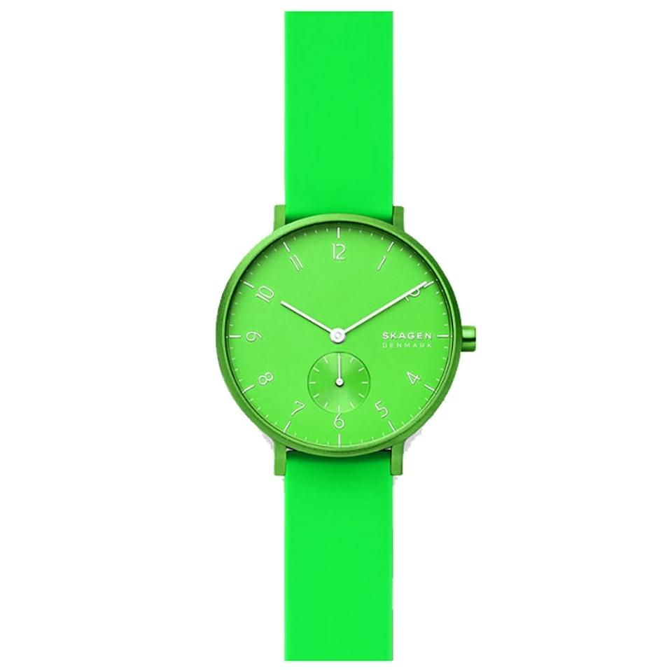 Skagen Aaron Kulor Green Silicone Watch SKW2819