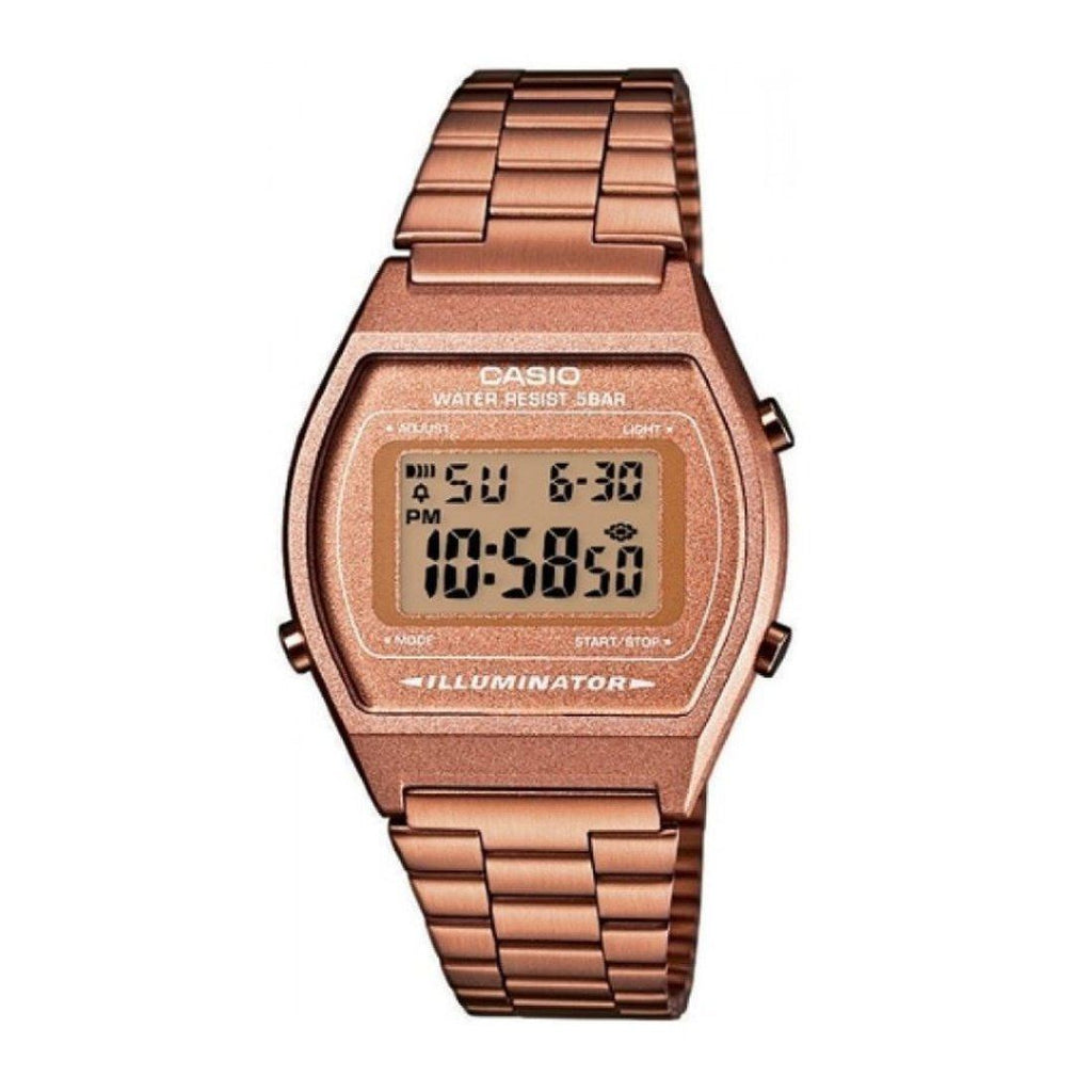 Casio Vintage Dig Illuminator Rose Gold Watch Model B640WC-5ADF
