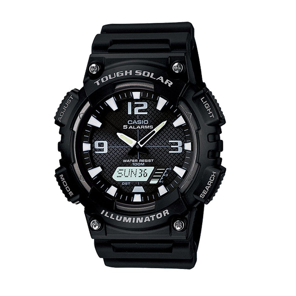 Casio Mens Tough Solar Black Watch AQS810W-1A