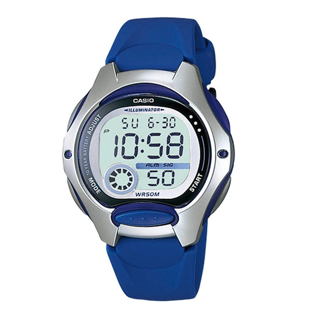 Casio Digital Blue Watch LW-200-2AVDF