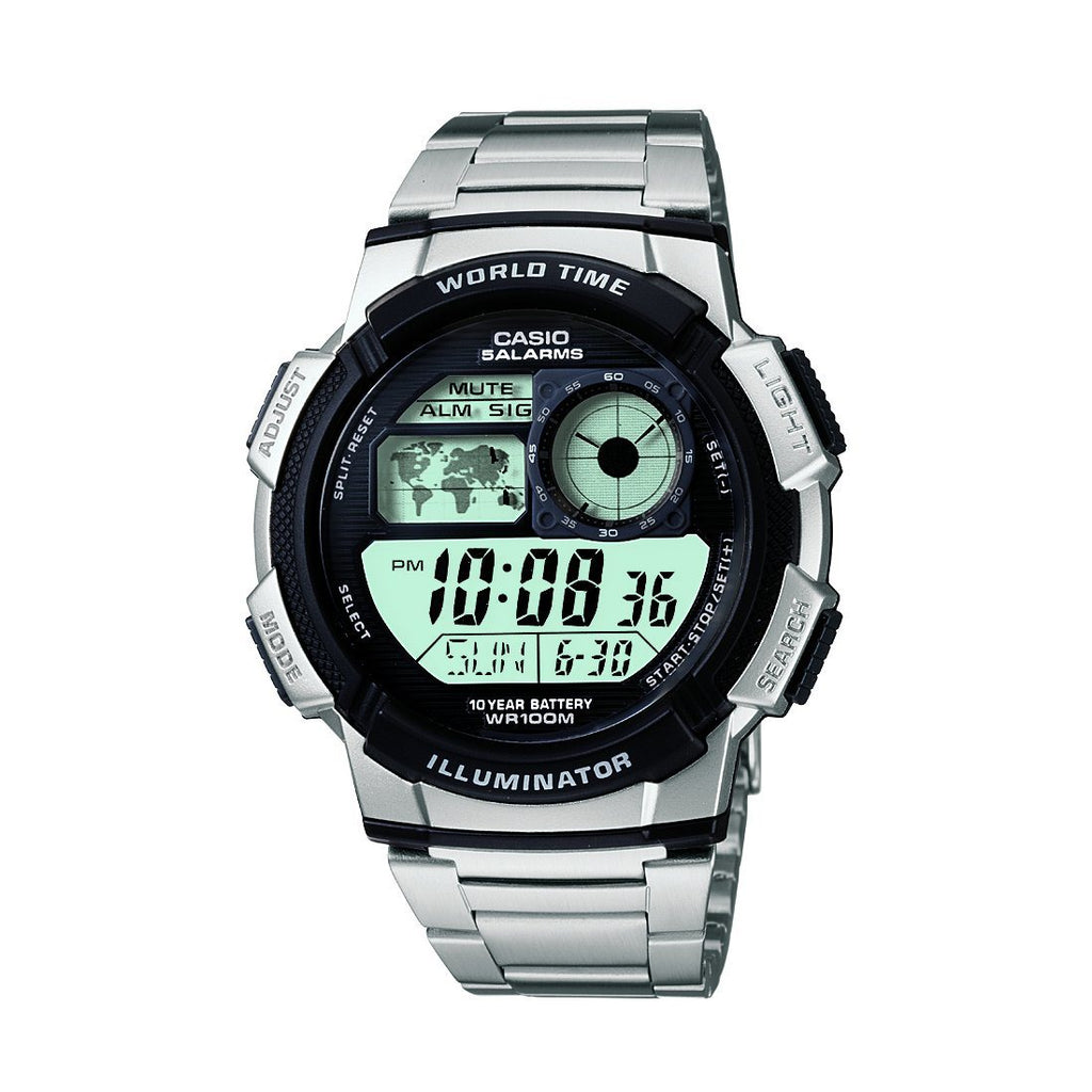 Casio Mens Digital Watch Model- AE1000D-1 Watches Casio