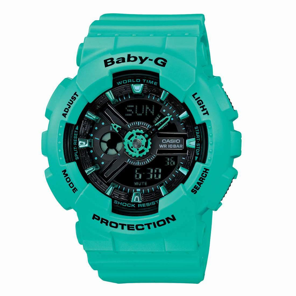 Casio Baby-G Neon Neon Aqua Watch BA111-3A Watches Casio