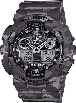 Casio G-Shock Camouflage Series Grey GA-100CM-8A