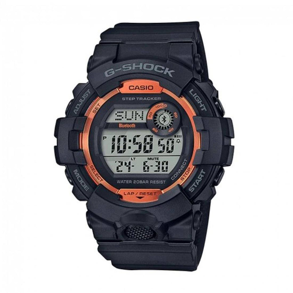 Casio G-Shock G-Squad Black & Orange Bluetooth Watch GBD-800SF-1DR Watches Casio