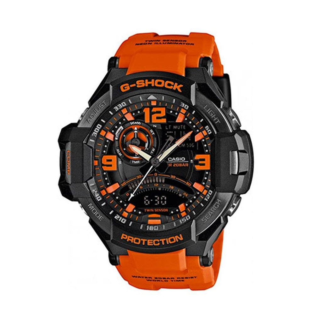 Casio G-Shock Orange an Black Dial Resin Strap Watch Watches Casio