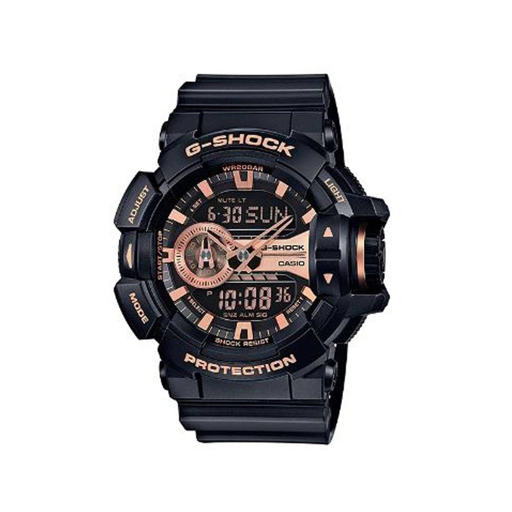 Casio G -Shock Black & Rose Watch GA400GB-1A4 Watches Casio
