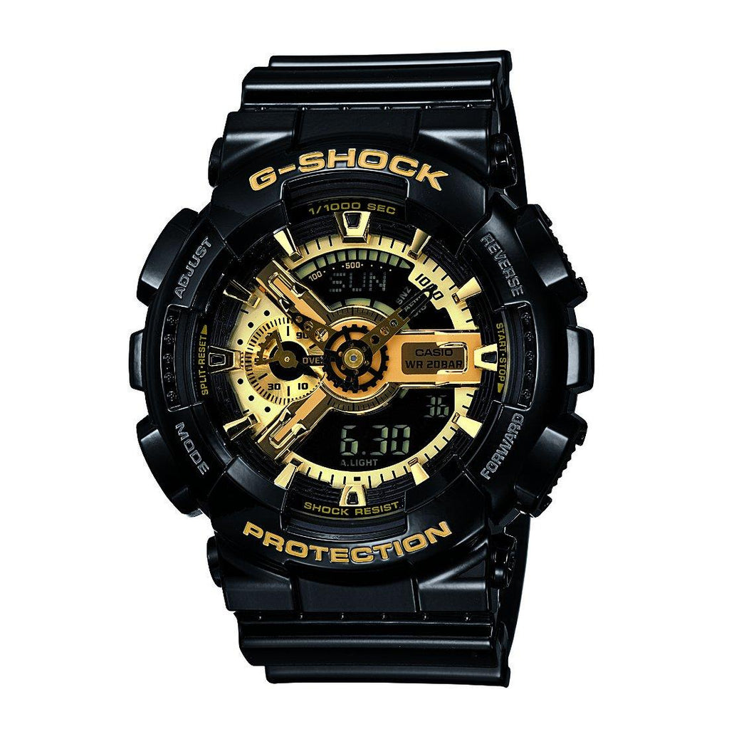 Casio G-Shock Black & Gold Watch Model- GA110GB-1 Watches Casio