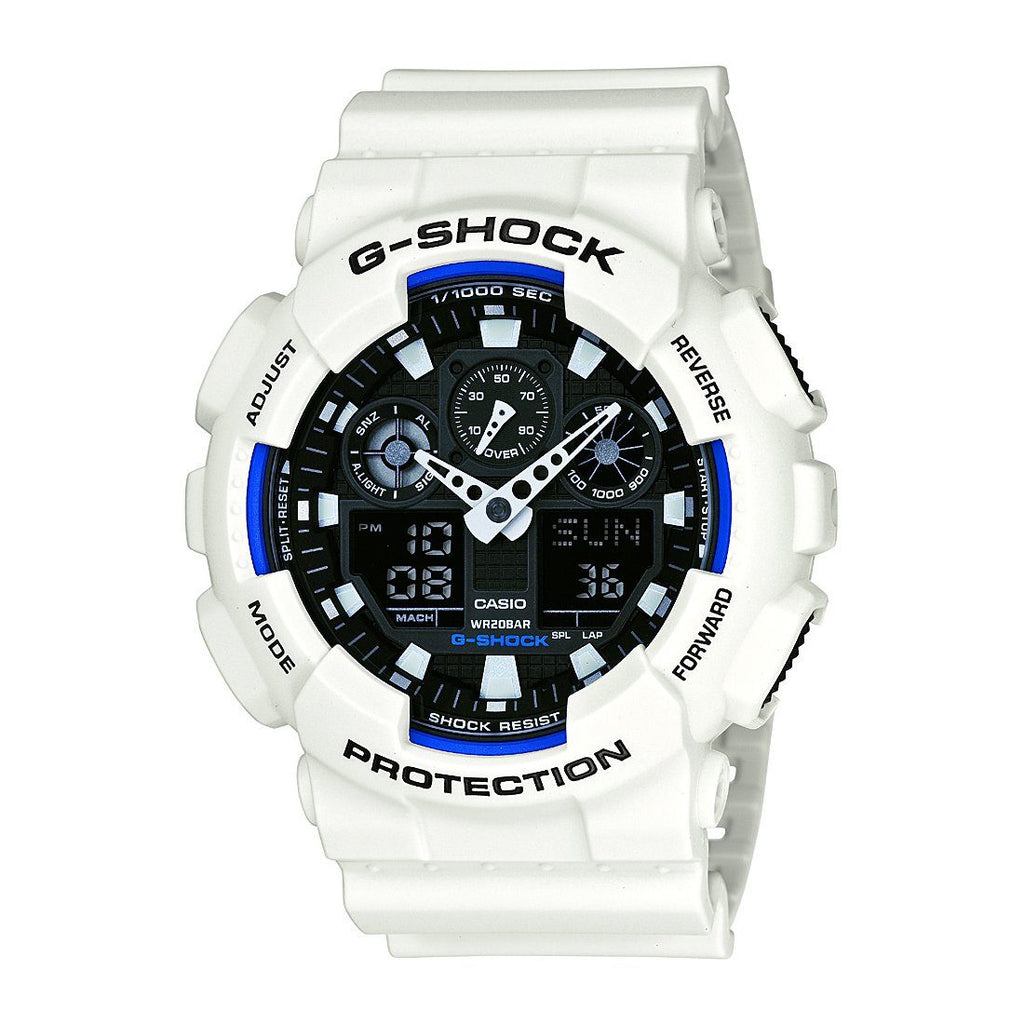 Casio Mens G-Shock White Watch Model- GA100B-7A