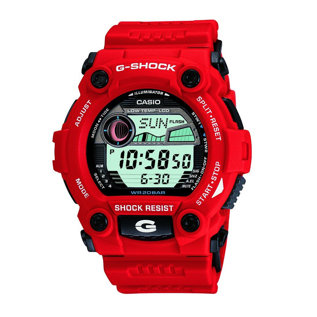 Casio G-Shock Digital 200M Red Resin Band Watch