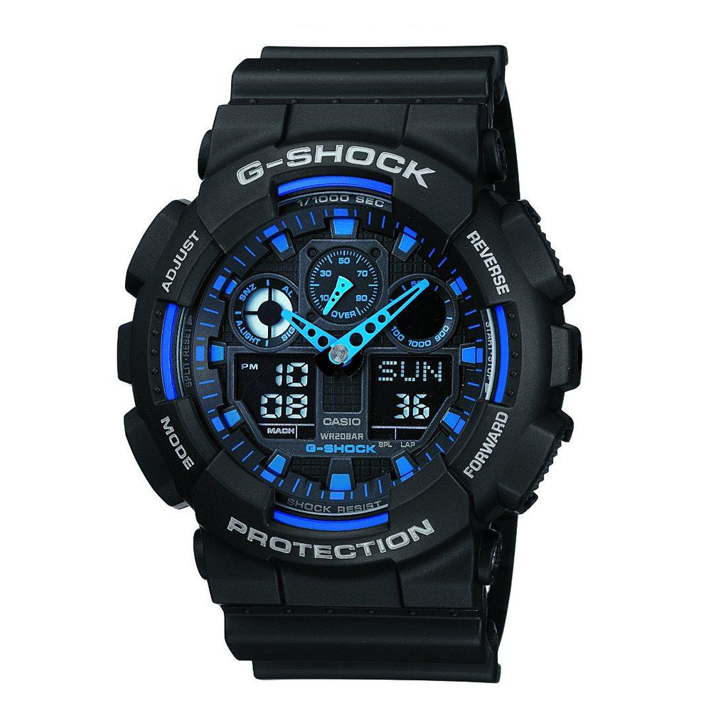 Casio G-Shock Digital Analogue 200M Black Rubber Watch