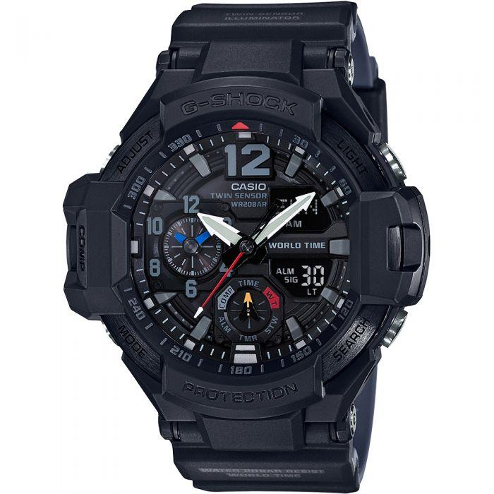 Casio G-Shock Master of G Gravity Tough Solar Watch GA-1100-1A1DR Watches Casio