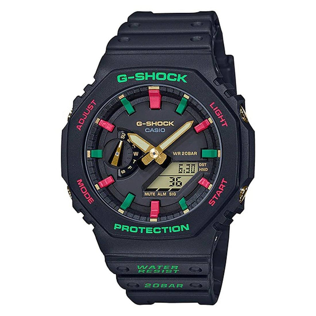 Casio G-Shock Carbon Guard Special Christmas Colour Watch GA-2100TH-1ADR