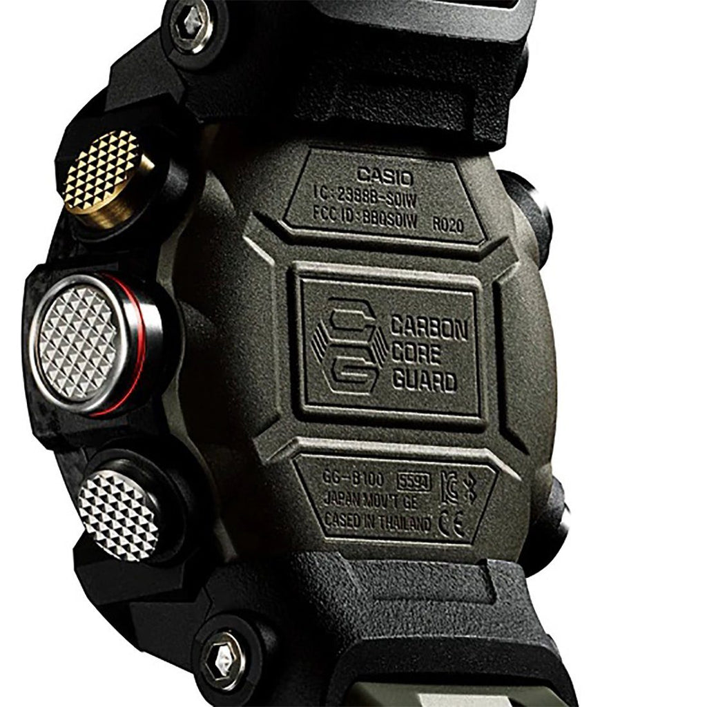 Casio G-Shock Master of G Mudmaster Digital Analogue Black/Green Watch GG-B100-1A3