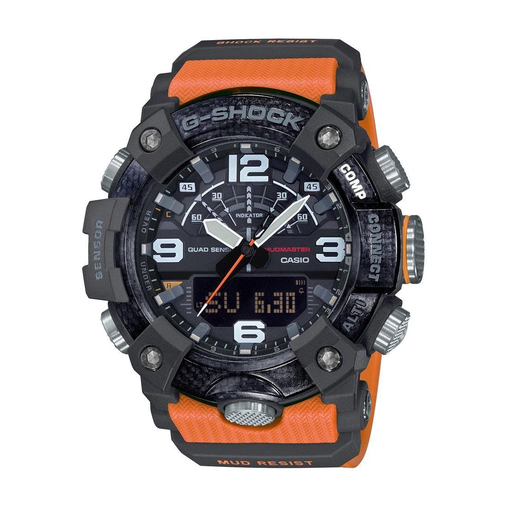 Casio G-Shock Master of G Mudmaster Digital Analogue Orange Watch GG-B100-1A9