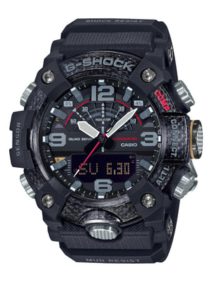 CASIO G SHOCK MASTER OF G MUDMASTER BLACK FACE CASE DIG ANA