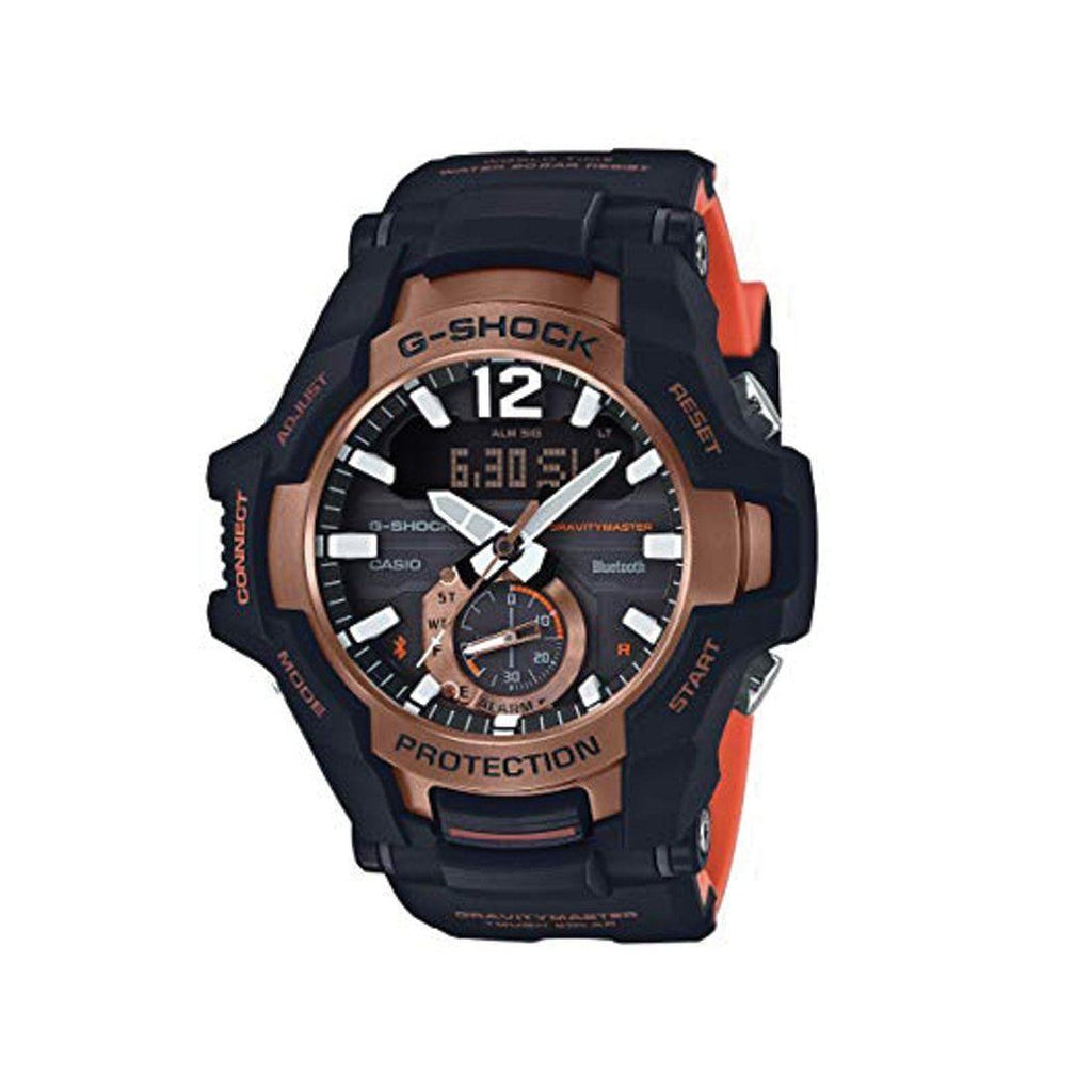 Casio G Shock Black and Orange Mens Watch GRB100-1A4