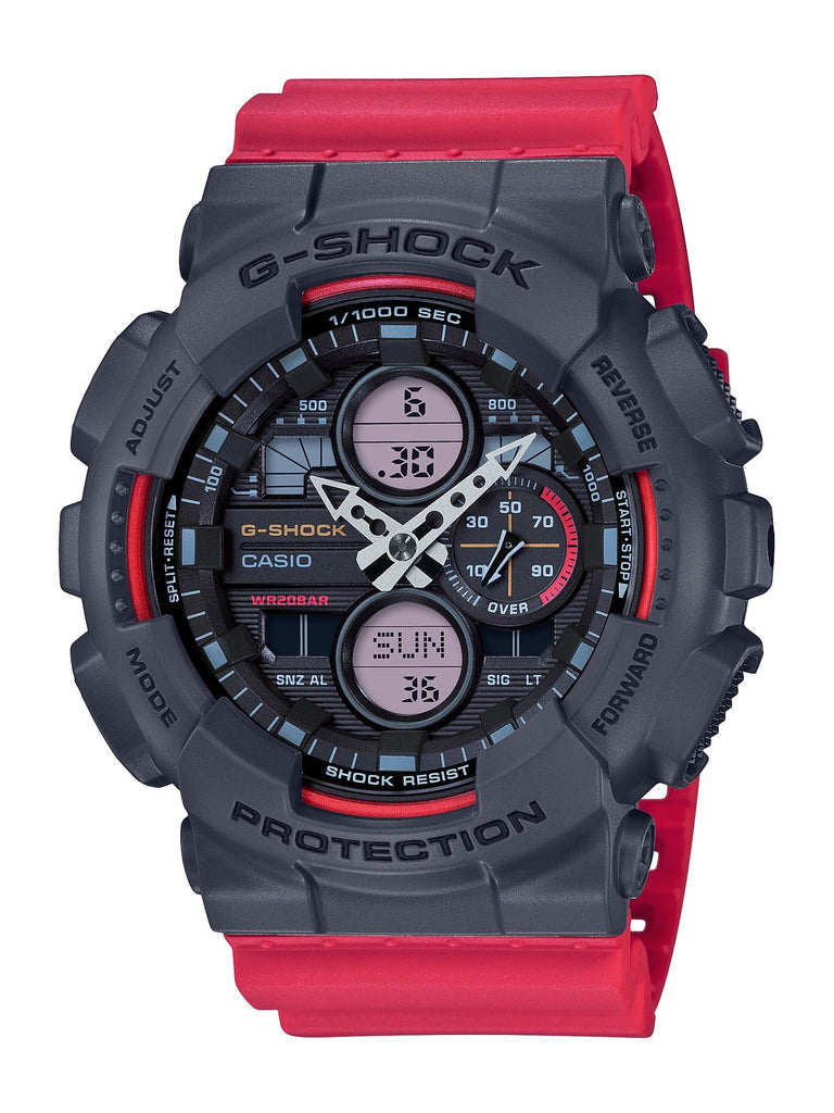 CASIO G SHOCK BLACK FACE CASE RED SILICONE BAND Watches Casio