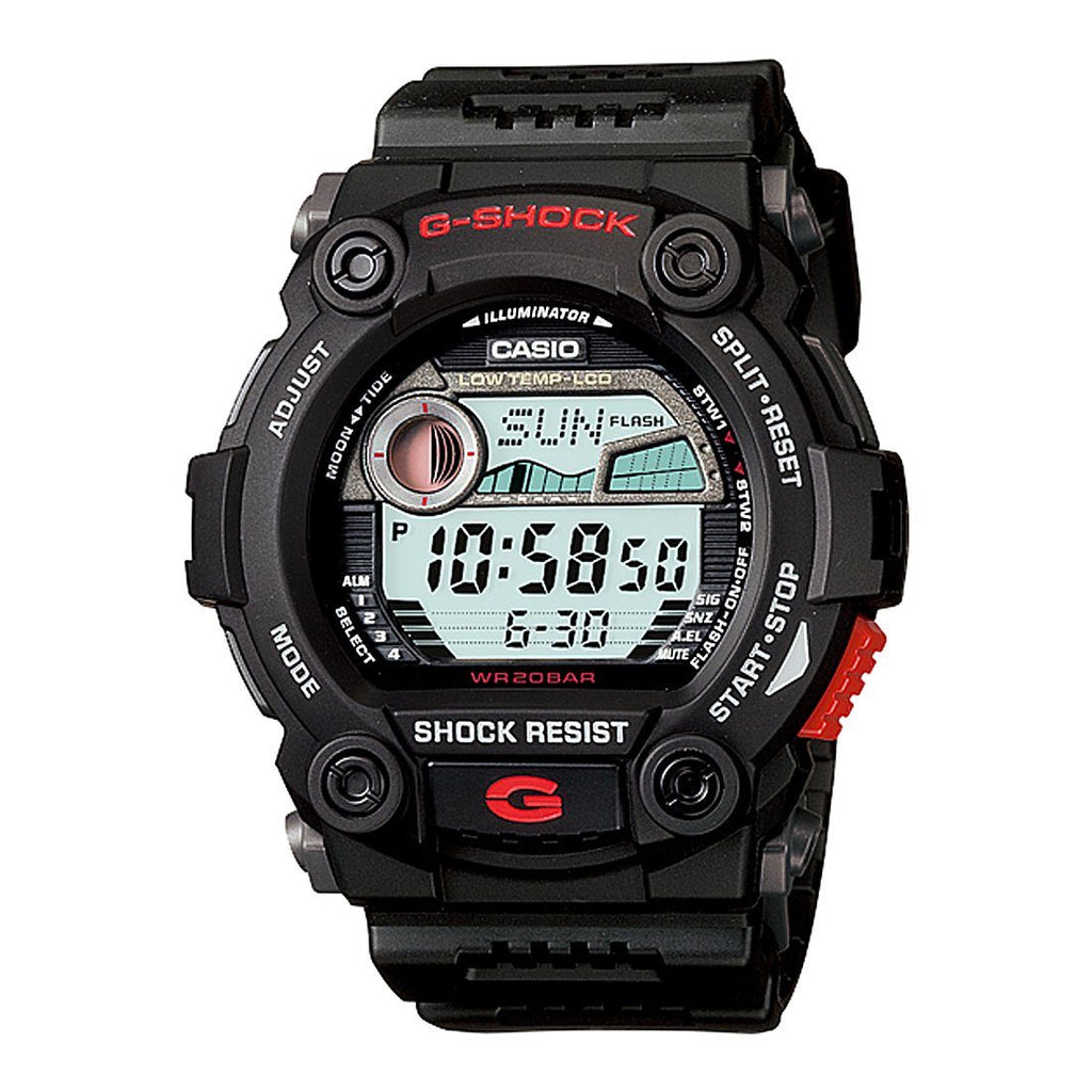 Casio G-Shock Tide Graph Digital Black Watch G7900-1 Watches Casio