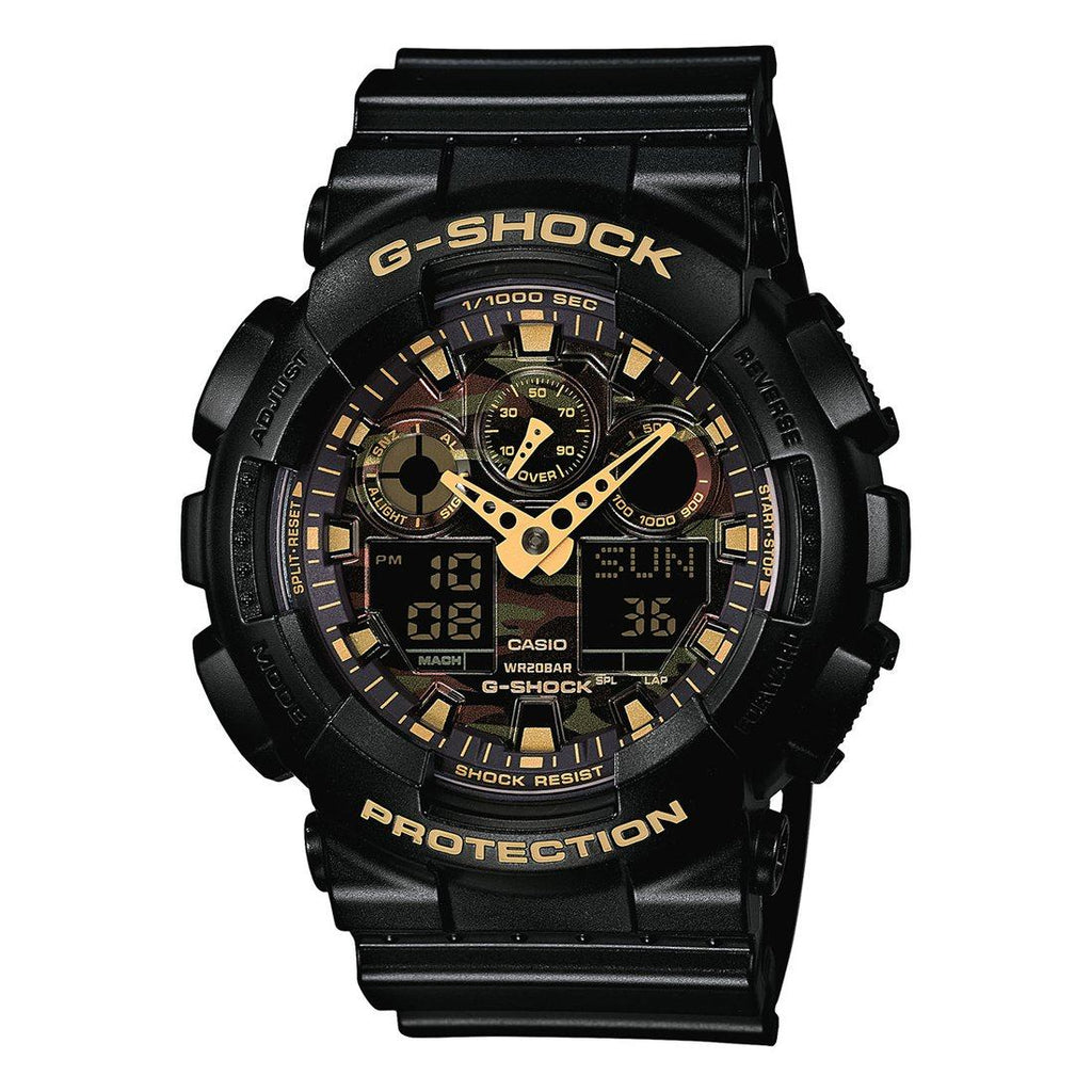 Casio G-Shock Camouflage Dial Black Resin Band Watch Watches Casio