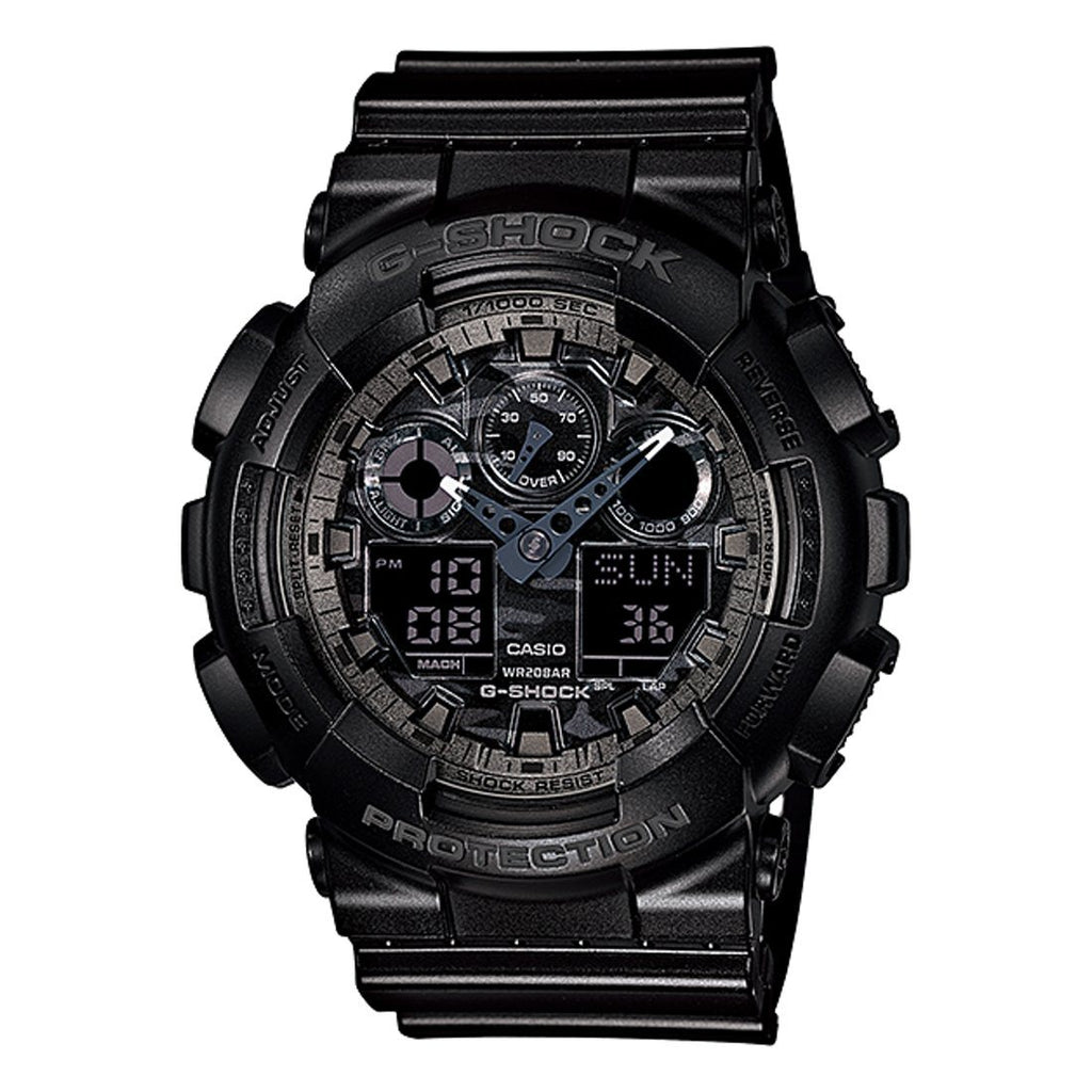 Casio G-Shock Camo Black Dial & Resin Watch GA100CF-1A