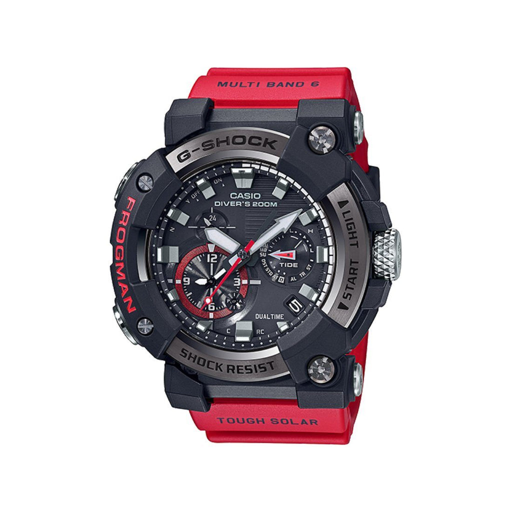 CASIO G SHOCK MASTER OF G FROGMAN BLUETOOTH SOLAR WAVE CEPTOR RED BAND Watches Casio