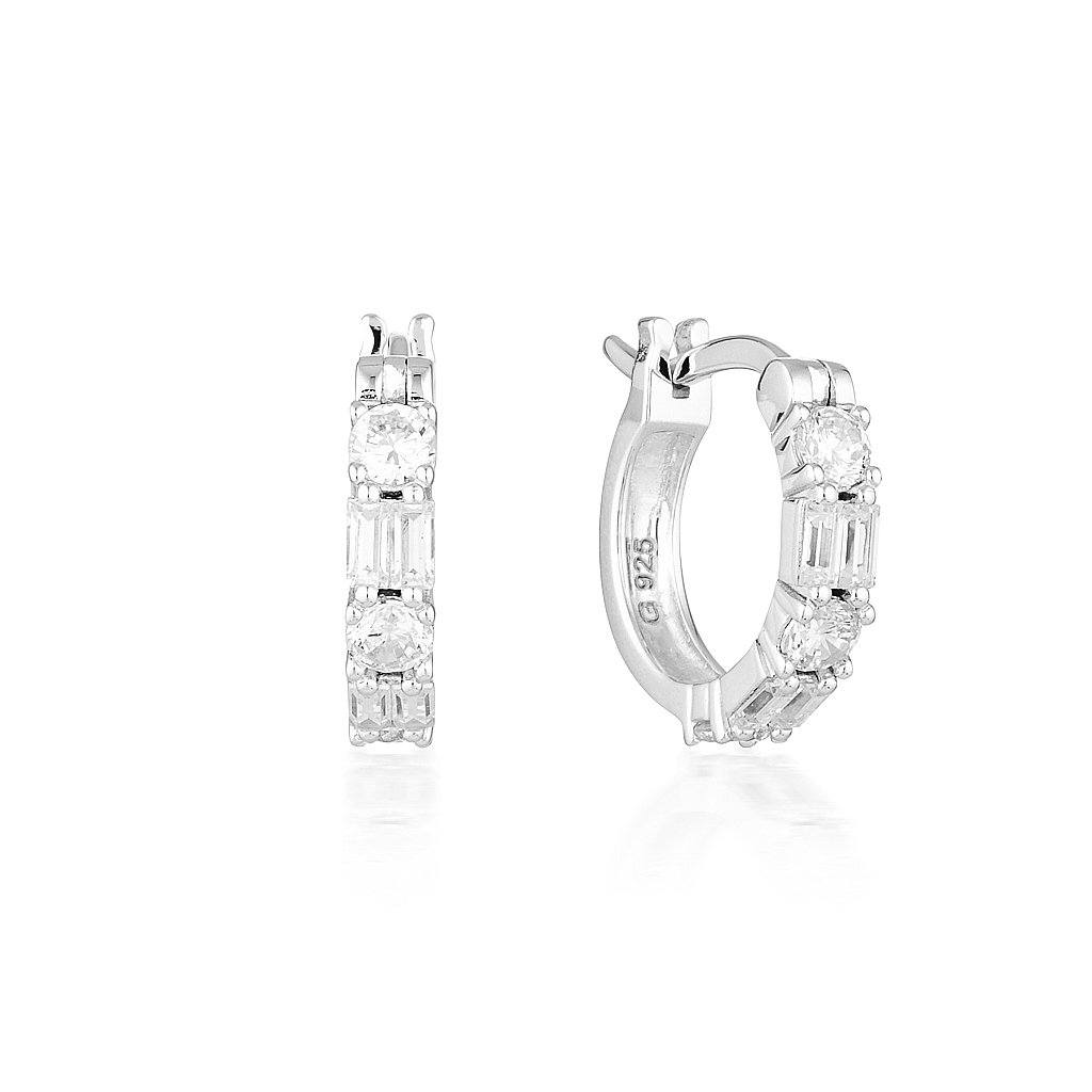 IRINA SMALL SILVER HOOP Bevilles Jewellers