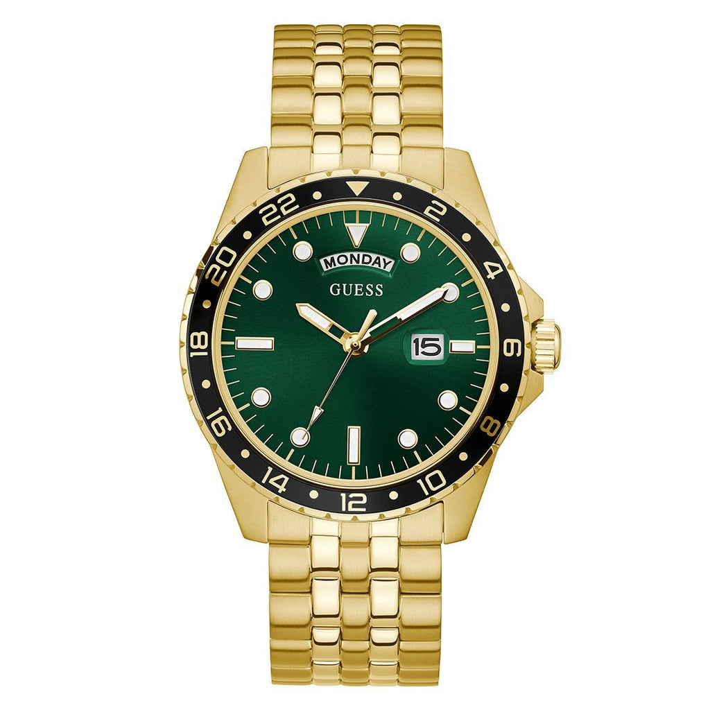 GUESS COMET GREEN FACE GOLD CASE BAND Waches Guess