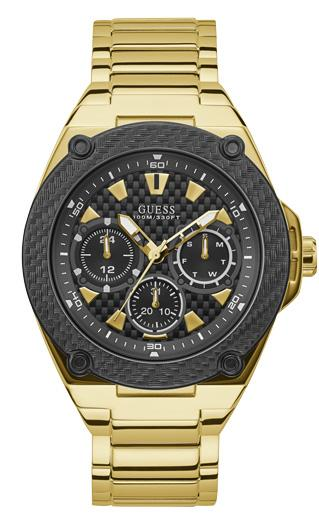 Guess Legacy Black and Gold Watch W1305G2