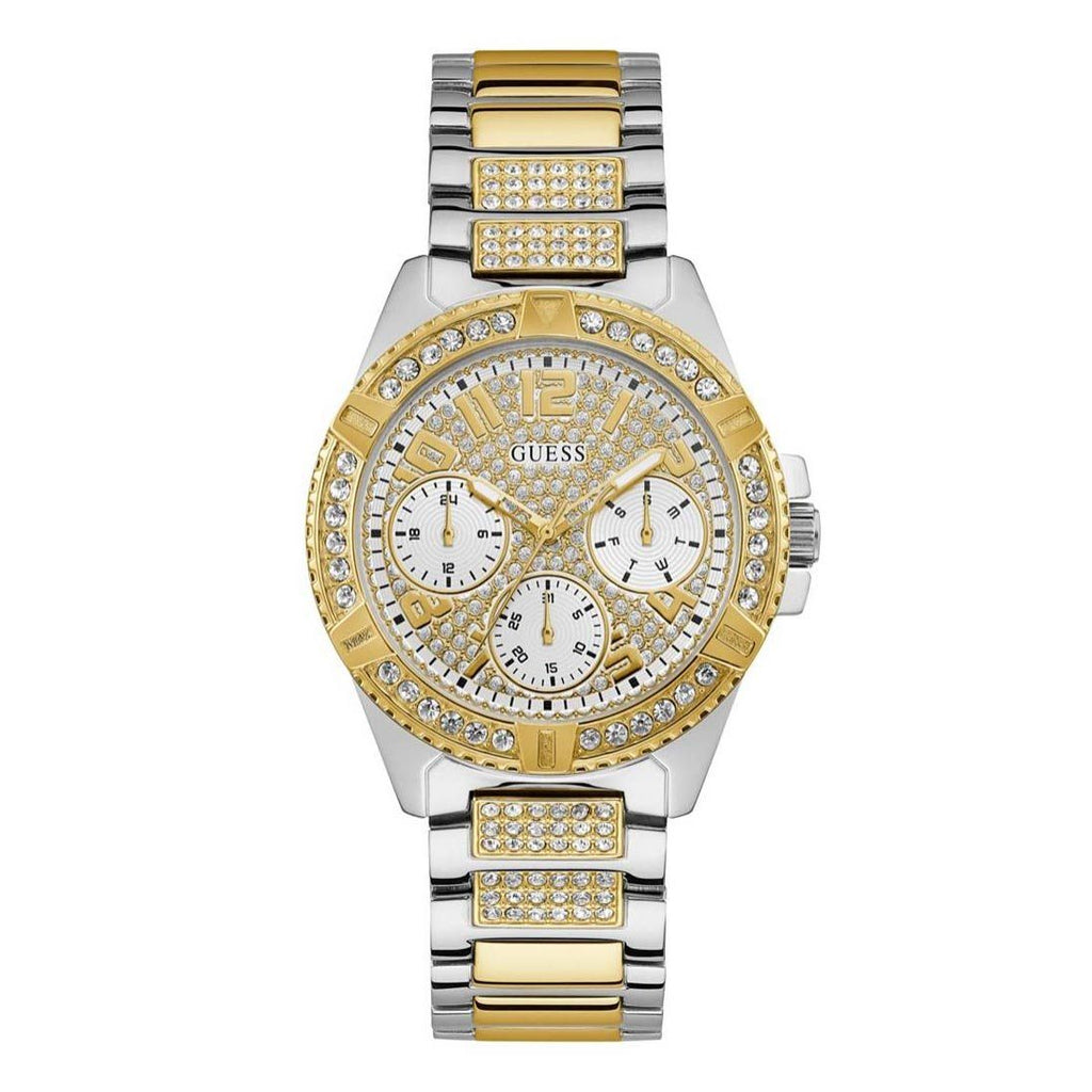 Guess Ladies Sport Two-Tone Stone Set Watch U1156L5