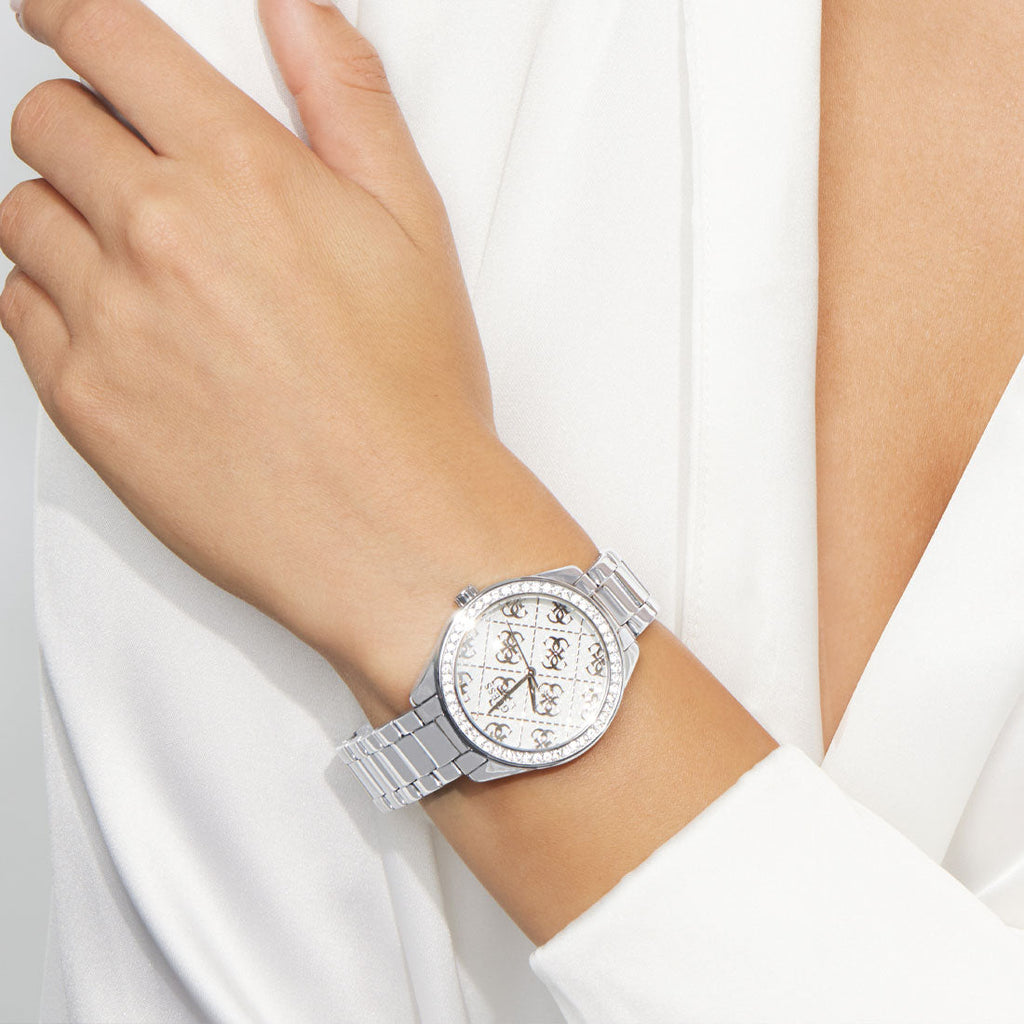 Guess Sugar Ladies Silver Stone Set Watch GW0001L1 Watches Guess