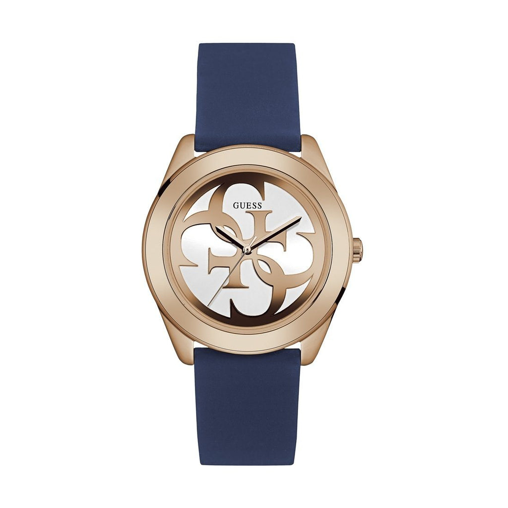 Guess G Twist Blue Silicone Strap Ladies Watch W0911L6