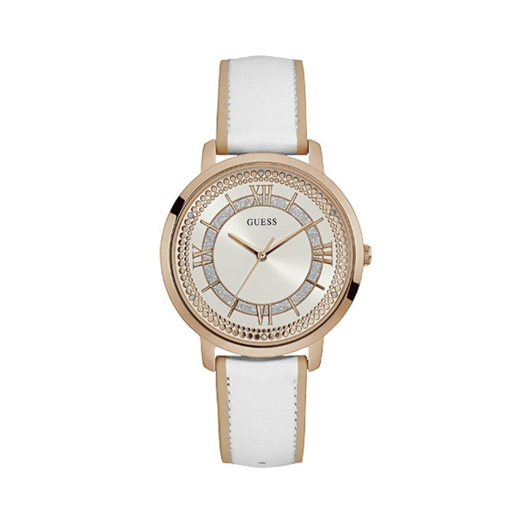 Guess Montauk White Leather Ladies Watch W0934L1