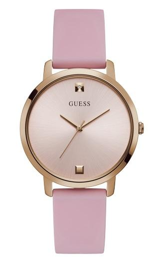 GUESS NOVA ROSE GOLD CAE FACE PINK SILICONE STRAP Watches Guess